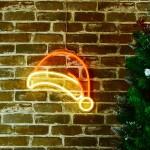 自拍聖誕帽 霓虹燈