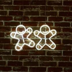 薑餅人 霓虹燈