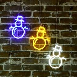 雪人 霓虹燈
