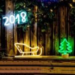 聖誕雪橇 霓虹燈