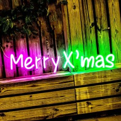 聖誕快樂 霓虹燈牌